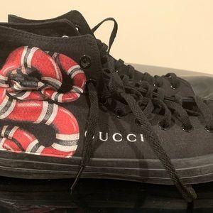 Gucci snakes hi tops